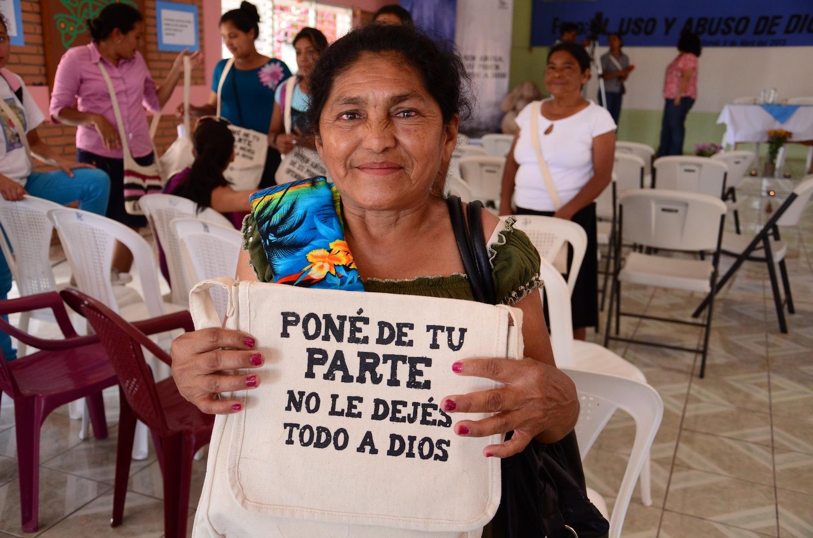 Las mujeres se identificaron con los materiales de la campaña