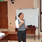 María Elena Dávila de la Asociación Girasoles