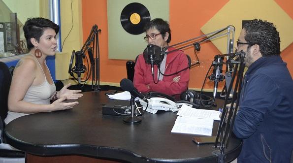 De izquierda a derecha: Tania Molina, Cristina Arévalo y Elvis Salvatierra