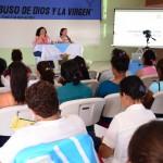 María Teresa Blandón contestó algunas interrogantes del grupo