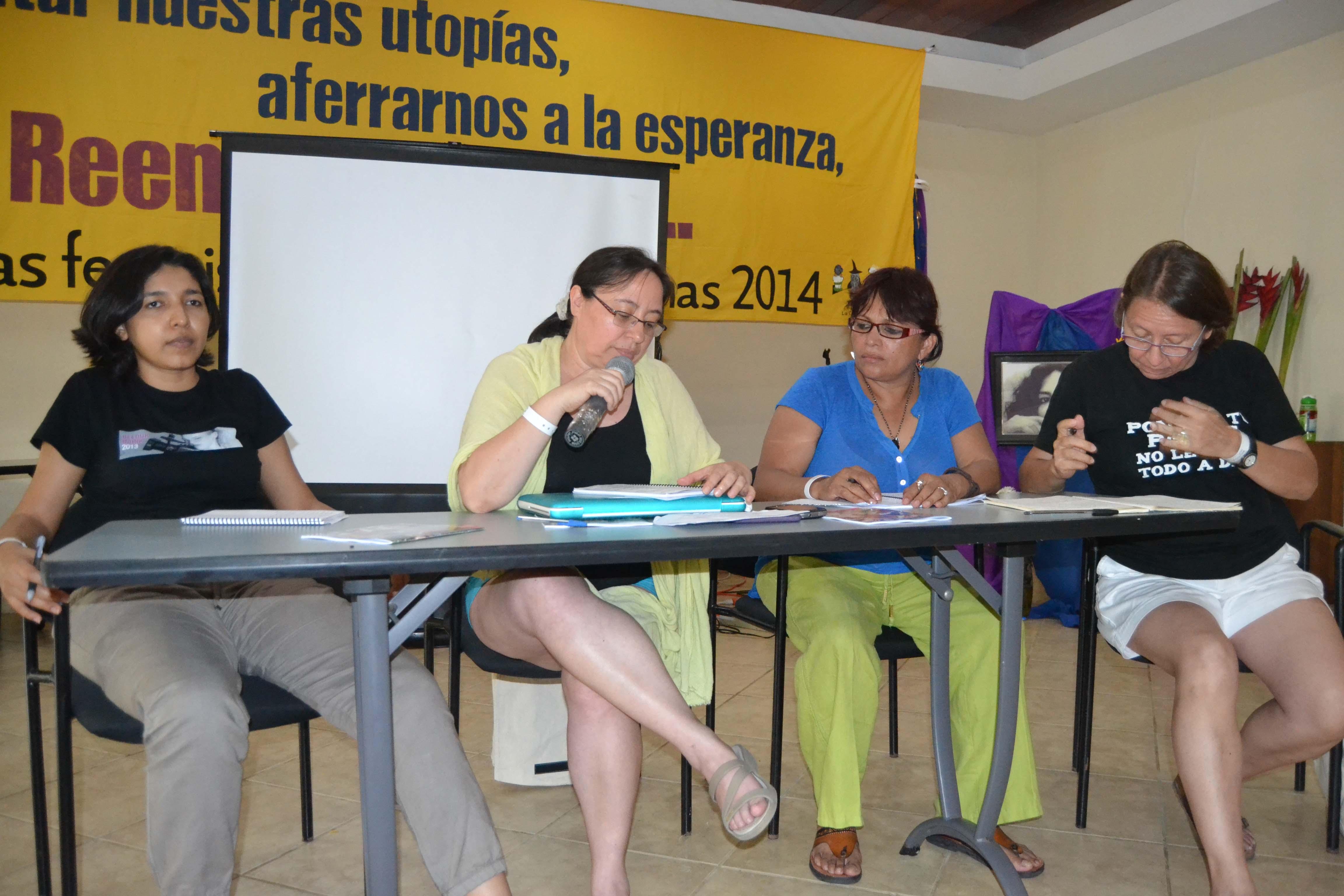 Puesta en común sobre desafíos y estrategias del feminismo centroamericano